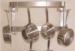 Advance Tabco 36 Residential Wall Mount Pot Rack   12 Double Hooks, Double Bar, Stainless