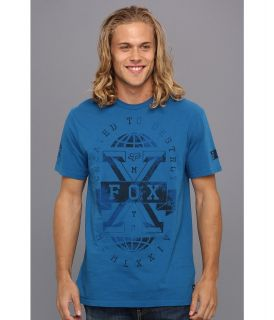 Fox Axrell S/S Premium Tee Mens T Shirt (Blue)