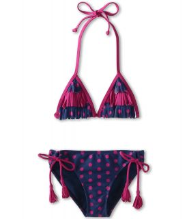 Roxy Kids Fringe Tiki Tri Set Girls Swimwear Sets (Purple)
