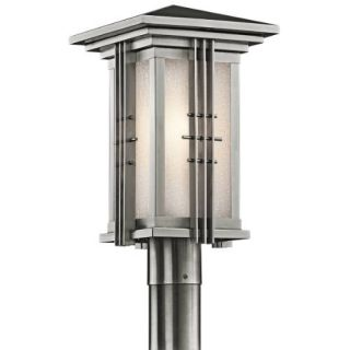 Kichler 49162SS Outdoor Light, Arts and Crafts/Mission Post Mount 1 Light Fixture Stainless Steel