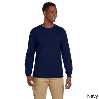 Gildan Mens Ultra Cotton Long Sleeve Pocket T shirt