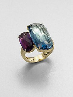 Marco Bicego 18K Yellow Gold Semi Precious Two Stone Ring   Gold