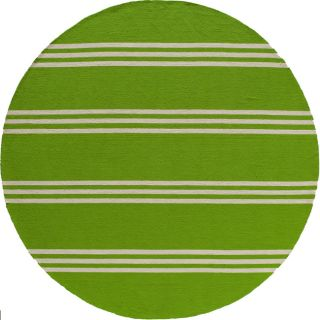 South Beach Lime Green Stripes Indoor/outdoor Rug (9 X 9)
