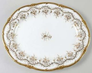 Royal Cauldon KingS Plate White 14 Oval Serving Platter, Fine China Dinnerware