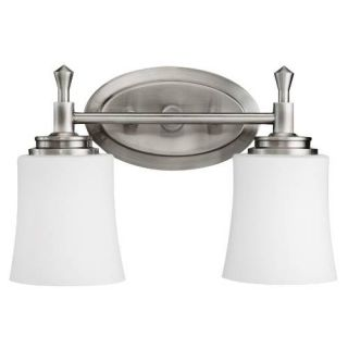 Kichler 5360NI Bathroom Light, Transitional Bath 2Light Fixture Brushed Nickel
