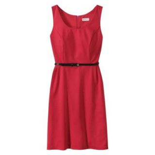 Merona Petites Sleeveless Fitted Dress   Red MP