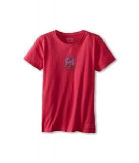 Life is good Kids Girls Crusher Tee Jackie Snow Girls T Shirt (Red)