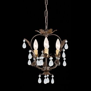 Crystorama Paris Flea Market Mini Chandelier   12W in. Dark Rust Multicolor
