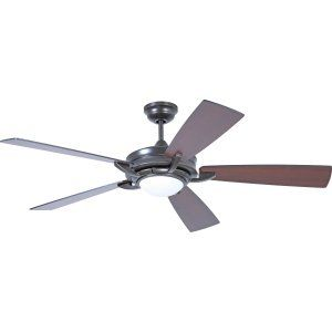 Ellington Fans ELF ORV56ESP5 Orvus 56 Ceiling Fan with Integrated Light Kit, Bl