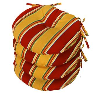 Greendale Home Fashions 15 inch Round Outdoor Bistro Seat Cushion Set of 4