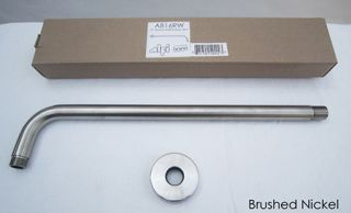 Alfi Brand AB16RWBN Shower Arm, 16 Round Wall Mounted For Round Rain Shower Heads Brushed Nickel