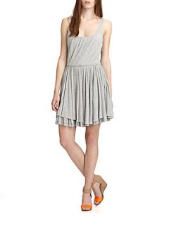 Beals Pleated Jersey Dress   Mouse Grey