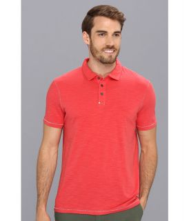 Calvin Klein Jeans S/S Slub Polo Mens Short Sleeve Pullover (Red)