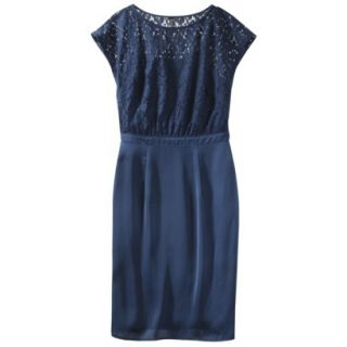 TEVOLIO Womens Lace Bodice Dress   Office Blue   12