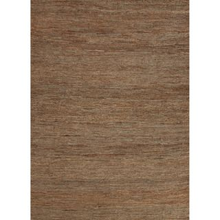 Hand woven Naturals Solid Pattern Brown Rug (8 X 10)
