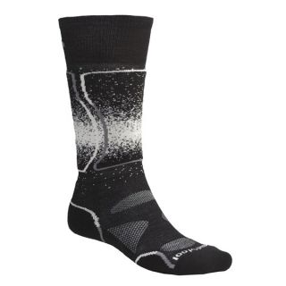 SmartWool PhD Snowboard Light Socks   Merino Wool (For Men and Women)   BLACK (L )