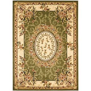 Lyndhurst Collection Aubussons Sage/ Ivory Rug (53 X 76)