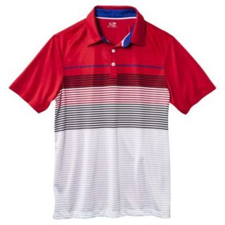 C9 by Champion Mens Advanced Striped Golf Polo Shirt   Red XXXL