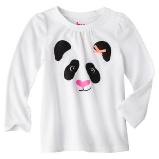 Circo Infant Toddler Girls Long sleeve Tee   White 3T