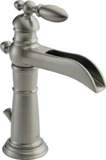 Delta 554LFSS Bathroom Faucet, Victorian Single Handle Centerset, LeadFree Brilliance Stainless