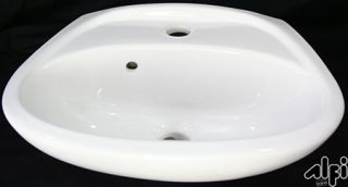 Alfi Brand AB106 Bathroom Sink, Small Wall Mount Porcelain Basin w/Overflow White