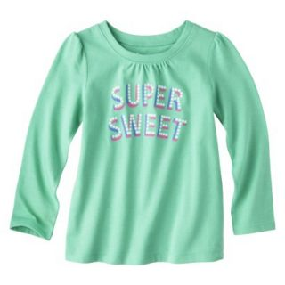 Circo Infant Toddler Girls Long sleeve Tee   Turquoise 12 M