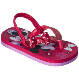 Toddler Girls Minnie Mouse Sandals   Red M