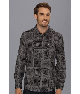 Quiksilver Waterman Banyans L/S Shirt Mens Long Sleeve Button Up (Black)