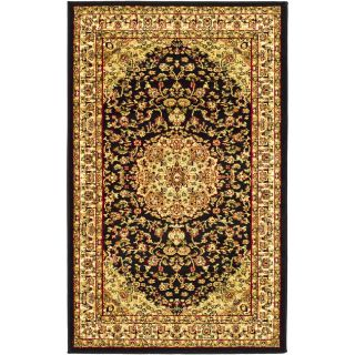 Lyndhurst Collection Black/ Ivory Rug (8 X 11) (BlackPattern OrientalTip We recommend the use of a non skid pad to keep the rug in place on smooth surfaces.All rug sizes are approximate. Due to the difference of monitor colors, some rug colors may vary