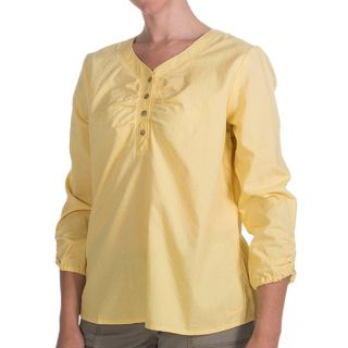 Woolrich Bay Creek Henley Shirt   Cotton Dobby  3/4 Sleeve (For Women)   DAYLILY (M )