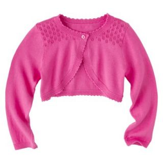 Infant Toddler Girls Long Sleeve Cardigan   Pink 3T