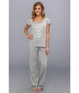 Kenneth Cole Reaction Matter Of Opinion Pant Tee Set Womens Pajama Sets (Silver)