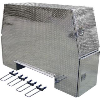 Buyers Products Aluminum Heavy Duty Backpack Truck Box   Diamond Plate, 92in.L