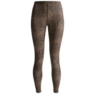 Hot Chillys MTF 3000 Print Base Layer Bottoms   UPF 30+  Midweight (For Women)   LEOPARD (M )