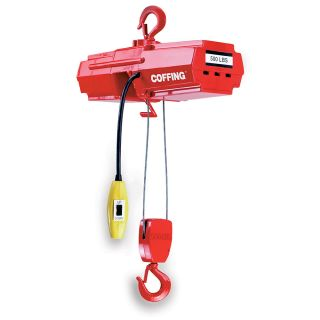 Coffing Light Duty Electric Hoists   Wire Rope Hoist   500 Lb. Capacity
