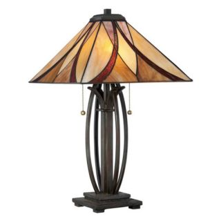 Quoizel TF1180TVA Tiffany Table Lamp   Valiant Bronze   TF1180TVA