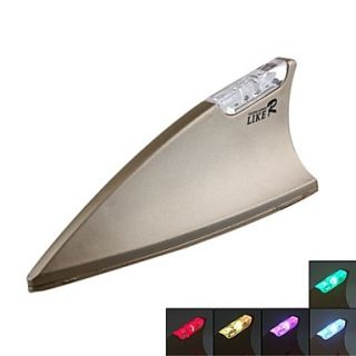 Shark Fin   Car Autoc Antenna (Colorful Flash Light, Anti static, Anti knock, lk 070)