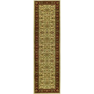 Lyndhurst Collection Majestic Ivory/ Red Runner (23 X 16) (IvoryMeasures 0.375 inch thickTip We recommend the use of a non skid pad to keep the rug in place on smooth surfaces.All rug sizes are approximate. Due to the difference of monitor colors, some r