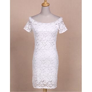 Womens Sexy and Elegant Boat Neck Lace Dress