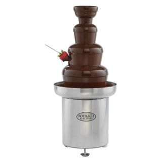 Nostalgia Electrics CFF552 Commercial Stainless Steel Chocolate Fondue Fountain