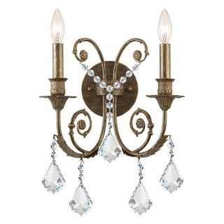 Crystorama Clear Swarovski Elements Crystal Wrought Iron Wall Sconce   12.5W in.