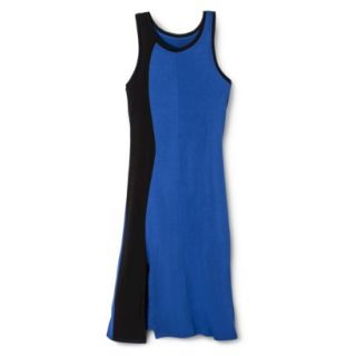 Mossimo Womens Colorblock Midi Dress   Blue/Black S
