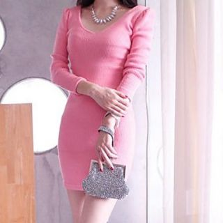 Womens Sexy Slim Cotton Dress