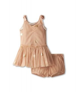 Stella McCartney Kids Bell Baby Girl Star Tulle Dress Girls Sets (Pink)