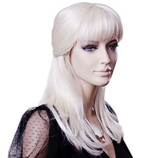Capless Medium Blonde Straight High Quality Synthetic Hair Wigs