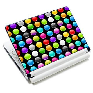 Colorful Round Dot Pattern Laptop Notebook Cover Protective Skin Sticker For 10/15 Laptop 18685
