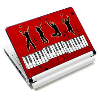 Piano Key Pattern Laptop Notebook Cover Protective Skin Sticker For 10/15 Laptop 18687