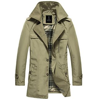 MenS Lapel Casual Trench Coat