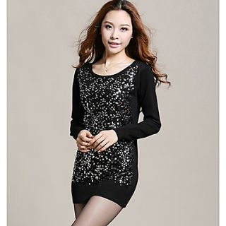 Womens Fashion Casual Paillette Sweater