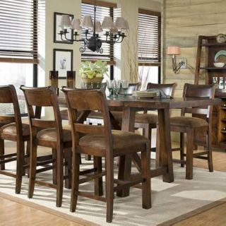Woodland Ridge Trestel Counter Height Table Multicolor   LGC854 1